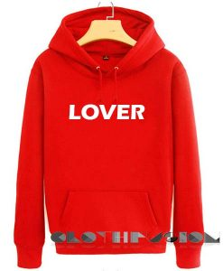 Lover Logo Red Adult Fashion Hoodie Apparel Clothfusion