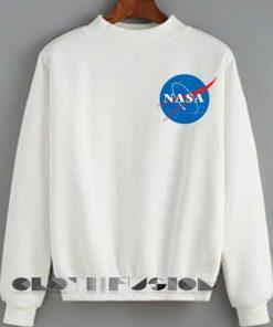 Unisex Crewneck Sweatshirt Nasa Logo Simple Clothfusion