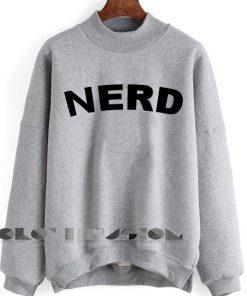 Unisex Crewneck Sweatshirt Nerd Logo Grey Design Clothfusion