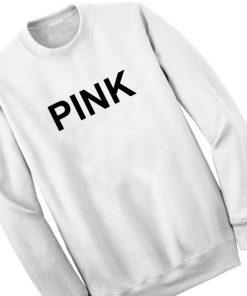 Unisex Crewneck Sweatshirt Pink Logo White Design Clothfusion