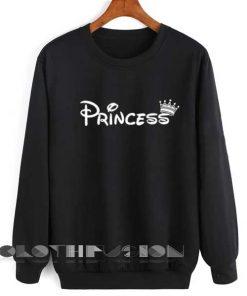Unisex Crewneck Sweatshirt Princess Logo Black Clothfusion
