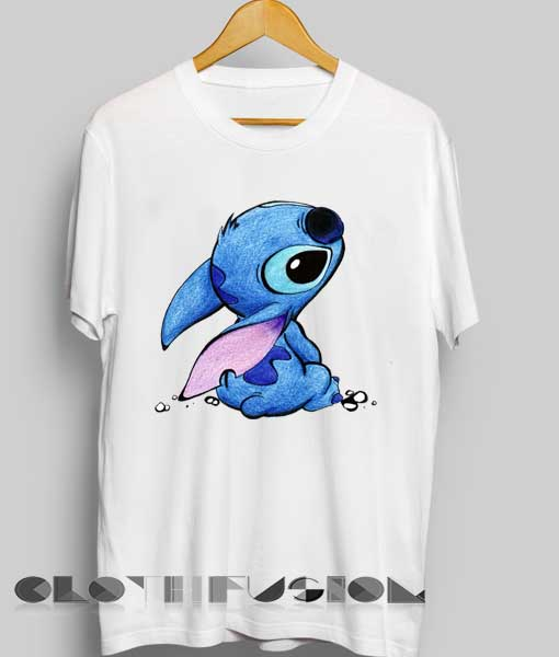 869630a72 Unisex Premium Stitch Cute White T shirt Design Clothfusion
