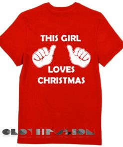 Unisex Premium This Girl Love Christmas T shirt Design Clothfusion