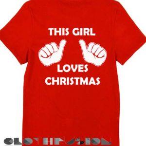 Unisex Premium This Girl Love Christmas T shirt Design Clothfusion