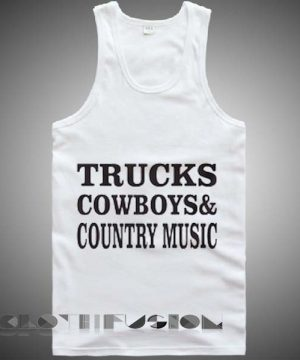 Unisex Men Women Trucks Cowboys And Country Music Tanktop Tank Top