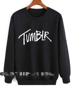 Unisex Crewneck Sweatshirt Tumblr Logo Black Design Clothfusion