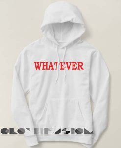 Whatever Logo Simple Adult Fashion Hoodie Apparel Clothfusion