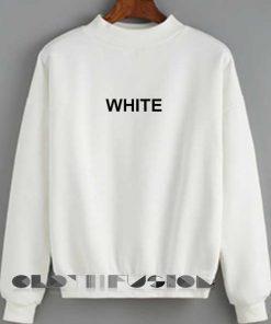 Unisex Crewneck Sweatshirt White Logo Quotes Clothfusion