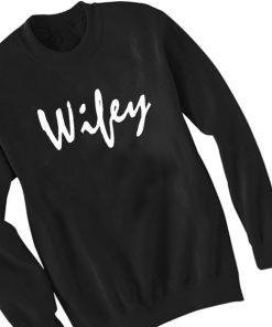 Unisex Crewneck Sweatshirt Wifey Logo Simple Design Clothfusion
