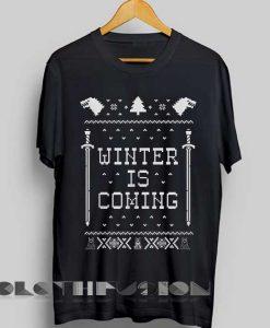 Unisex Premium Game Of Thrones T shirt Winter Is Coming Christmas