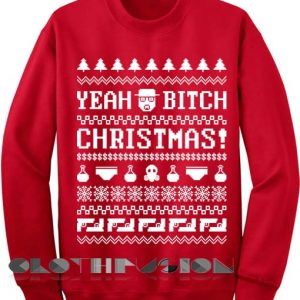 Unisex Crewneck Sweatshirt Yeah Bitch Christmas Sweater Design