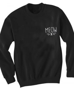 Unisex Crewneck Sweatshirt Meow Logo Simple Design Clothfusion