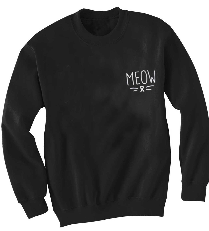 Unisex Crewneck Sweatshirt Meow Logo Simple Design Clothfusion f5eb37052