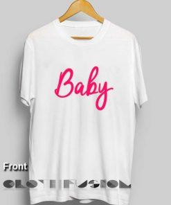 Unisex Premium Baby Logo Pink T shirt Design Clothfusion
