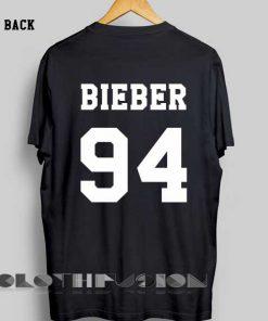 Unisex Premium Bieber T shirt 94 Back Design Clothfusion