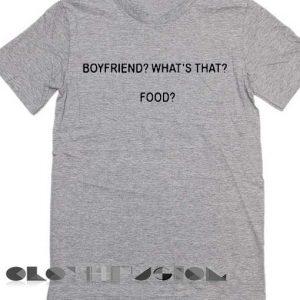 f97d38a0 Unisex Premium Boyfriend What Is That Food T shirt Grey Design Clothfusion