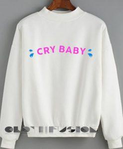 Unisex Crewneck Cry Baby Sweater Logo Design Clothfusion