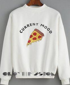 Unisex Crewneck Current Mood Pizza Sweater Design Clothfusion