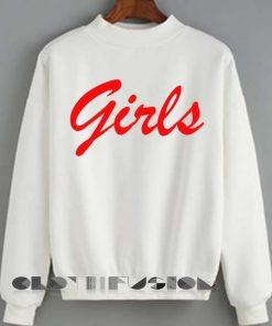 Unisex Crewneck Girls Sweater Logo Design Clothfusion