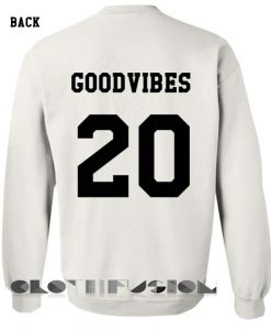 Unisex Crewneck Sweatshirt Good Vibes 20 Design Clothfusion