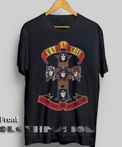 Unisex Premium Guns And Roses T shirt Design Clothfusion