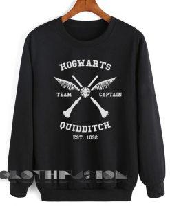 Unisex Crewneck Harry Potter Sweater Hogwarts Quidditch Design Clothfusion