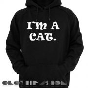 I'm A Cat Logo Hoodie Unisex Premium Clothing Design