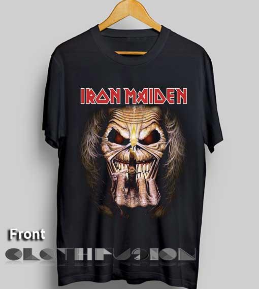 93fe8fb4 Unisex Premium Iron Maiden T shirt Candle Design Clothfusion