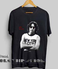 John Lennon Nyc T shirt Unisex Premium Design Clothfusion