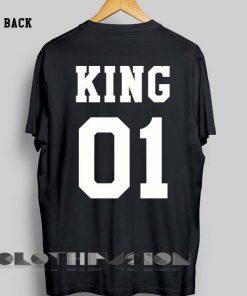 Unisex Premium King And Queen Logo T shirt 1 Design Clothfusion