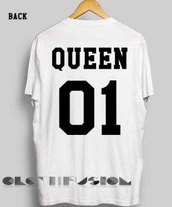 Unisex Premium King And Queen Logo T shirt 2 Design Clothfusion