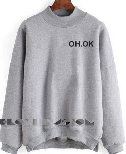 Unisex Crewneck Oh Ok Sweater Logo Design Clothfusion