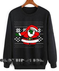 Unisex Crewneck Sweatshirt Santa Claus Dab On Em Sweater Design Clothfusion