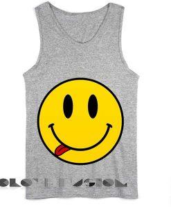 Unisex Men Women Smiley Tongue Out Tanktop Tank Top