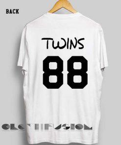Unisex Premium Twins 88 T shirt Design Clothfusion