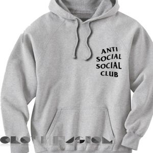 Anti Social Social Club Hoodie Grey Unisex Premium Clothing Design