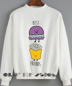 Unisex Crewneck Best Friends Sweater Design Clothfusion