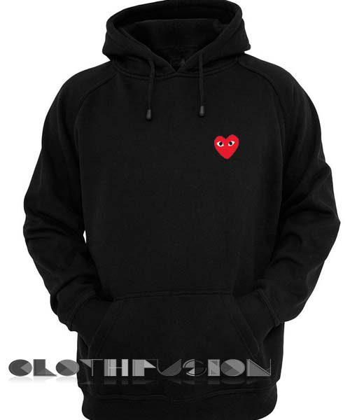 Comme Des Garcons Hoodie Red Unisex Premium Clothing Design