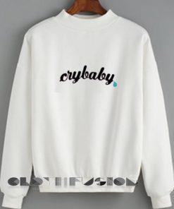 Unisex Crewneck Crybaby Sweater Design Clothfusion