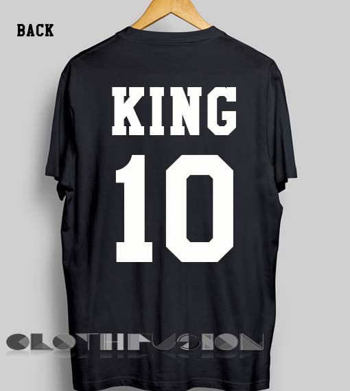 89cb3bc76d5162 Unisex Premium King And Queen Couple T shirt 2 Design Clothfusion
