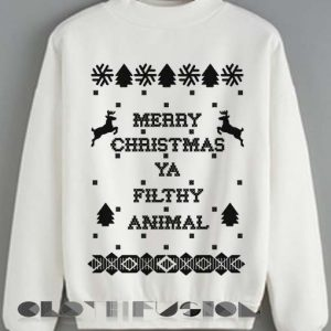 Christmas Sweater Merry Christmas Ya Filthy Animal Unisex Sweatshirt