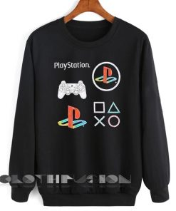 Unisex Crewneck Play Stations Logo Sweater Design Clothfusion