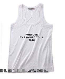 Unisex Men And Women Purpose The World Tour 2016 Bieber Tanktop Tank Top