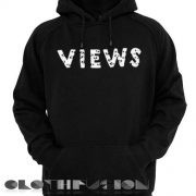 Views Logo Drake Hoodie Red Unisex Premium Clothing Design