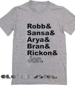 Game of Thrones T Shirt GoT Character Unisex Premium Shirt