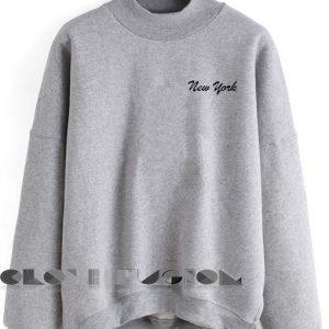 Quote Shirts New York Grey Unisex Crewneck Sweater