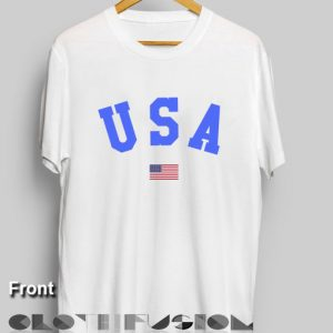 T Shirt Quote U S A and Flag Men's Women's sale & outlet t-shirts