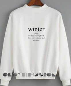 Ugly Style Winter Definition Sweatshirt – Adult Unisex Size S-3XL