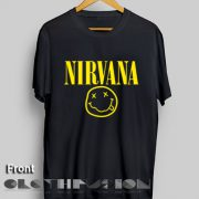 T Shirt Quote Nirvana Smile Logo Men's Women's sale & outlet t-shirts