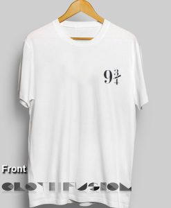 Harry Potter Quotes T Shirts Platform 9 3/4 logo